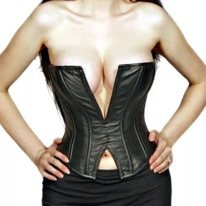 Erotic couture leather corset top Cosplay anime